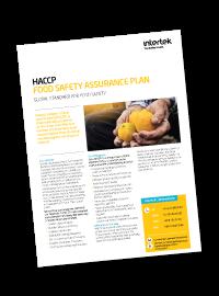 HACCP - Hazard Analysis Critical Control Point