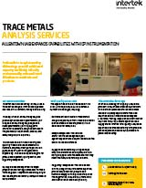 Trace Metals Analysis
