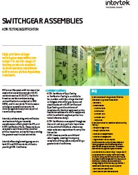 Switchgear Assemblies: ASTA Testing & Certification