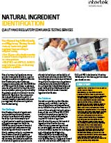 Natural Ingredient Identification Testing FS