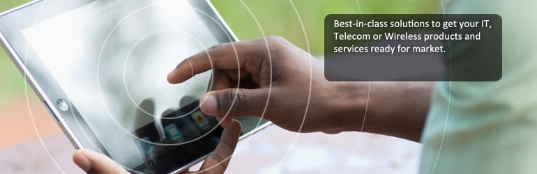 Best-in-class solutions to get your IT, Telecom or Wireless products and services ready for market.
