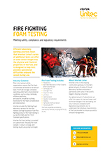 Fire Fighting Foam Testing